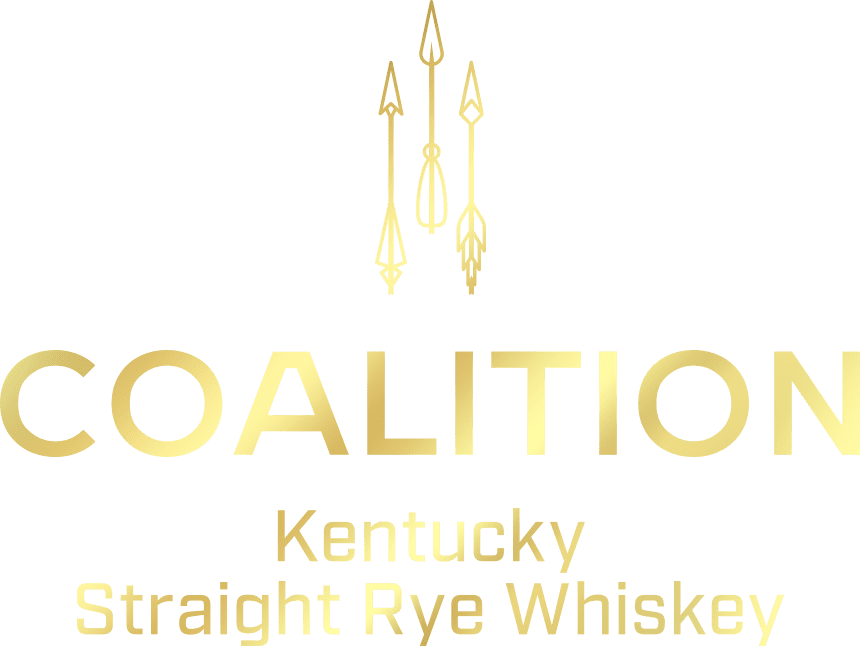 Coalition Whiskey Logo Gold